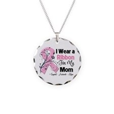 Mom Ribbon Breast Cancer Necklace