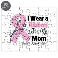 Mom Ribbon Breast Cancer Puzzle