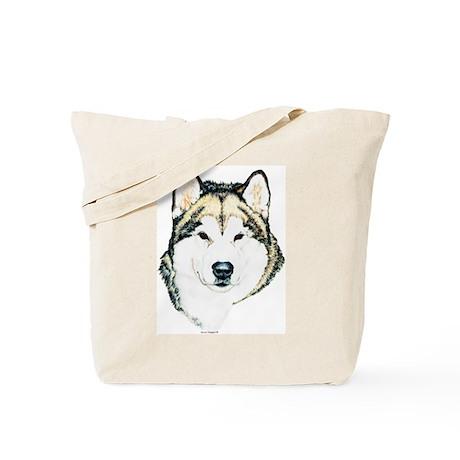 Alaskan Malamute Adult Head Tote Bag