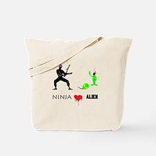 Ninja Heart Alien - Tote Bag