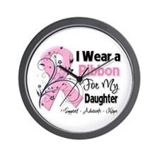 Daughter Breast Cancer Wall Clock