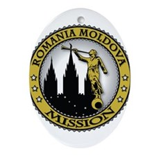 Romania Moldova LDS Mission C Ornament (Oval)