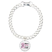 Cousin Breast Cancer Charm Bracelet, One Charm