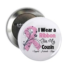 """Cousin Breast Cancer 2.25"""" Button (100 pack)"""