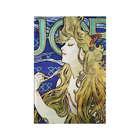 Mucha Rectangle Magnet