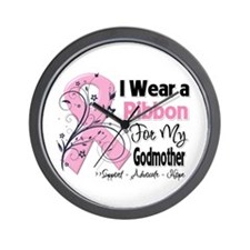 Godmother Breast Cancer Wall Clock