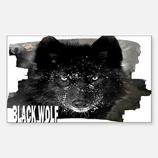 black wolf Decal