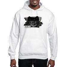 black wolf Hoodie