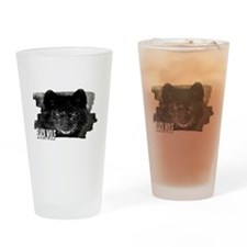 black wolf Drinking Glass