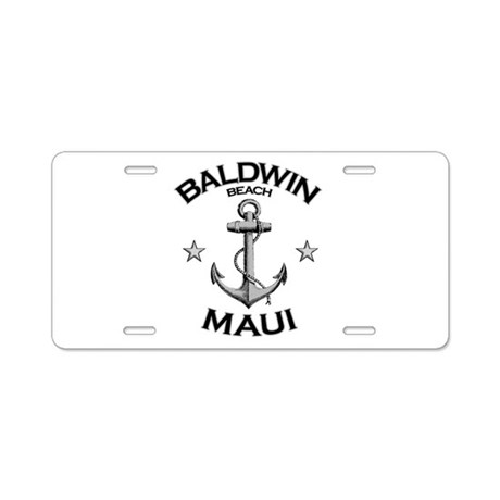 Baldwin Beach, Maui Aluminum License Plate