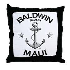 Baldwin Beach, Maui Throw Pillow