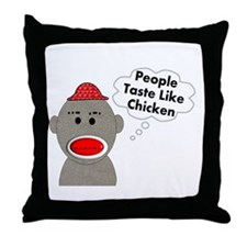 Sock Monkey Throw Pillow