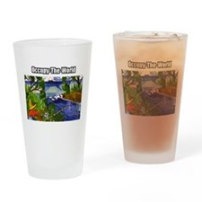 Occupy The World Drinking Glass