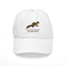 Fur is for animals Baseball Cap