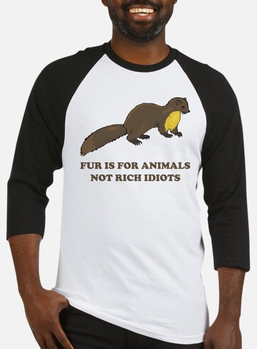Fur is for animals Baseball Jersey