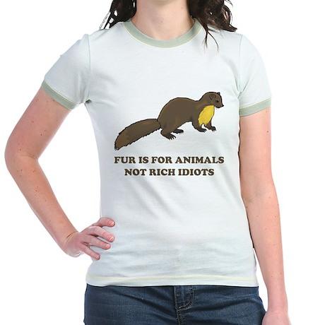Fur is for animals Jr. Ringer T-Shirt