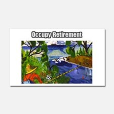 Occupy Retirement Car Magnet 20 x 12