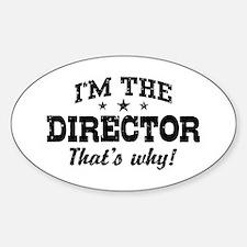 Director Sticker (Oval)