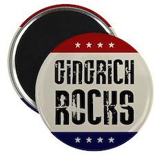 Newt Gingrich Rocks Magnet