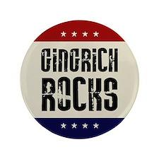 """Newt Gingrich Rocks 3.5"""" Button"""