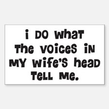 Wife's Head Sticker (Rectangle)