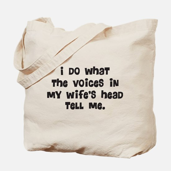 Wife's Head Tote Bag