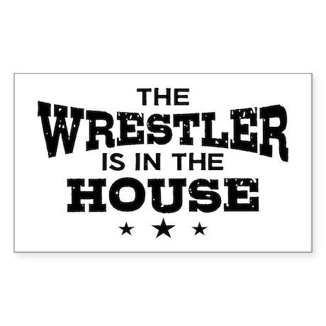 Funny Wrestler Sticker (Rectangle)