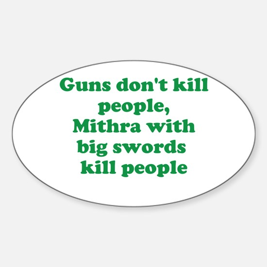 Mithra's with swords Sticker (Oval)