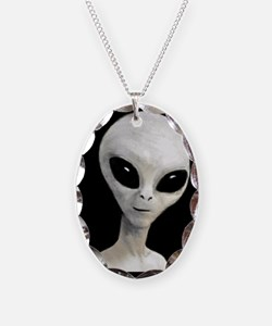 Alien Necklace Oval Charm