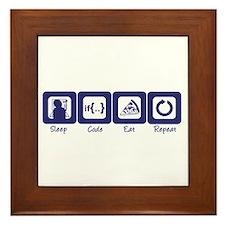 Sleep- Code- Eat- Repeat Framed Tile