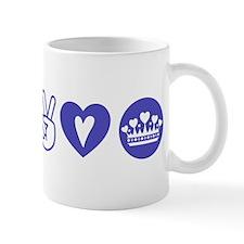 Peace Love Heart Princess Crown Mug