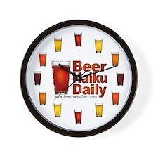 Beer Haiku Daily Wall Clock