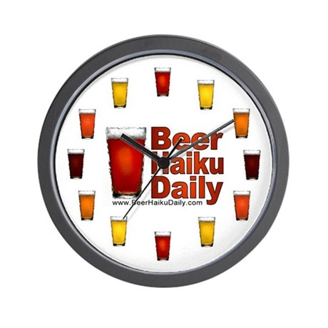 Beer Haiku Daily Wall Clock