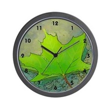 Fallen Maple Leaf Wall Clock (small numbers)