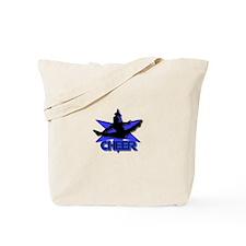 Cheerleader in blue Tote Bag