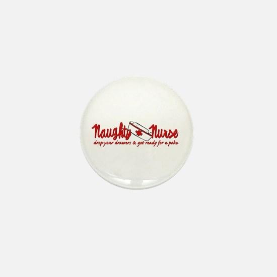 Naughty Nurse Mini Button