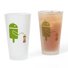 Cute Androids Drinking Glass