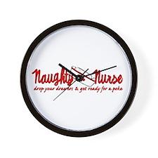 Naughty Nurse Wall Clock