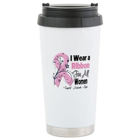 Women Breast Cancer Stainless Steel Travel Mug