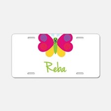 Reba The Butterfly Aluminum License Plate