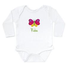 Reba The Butterfly Long Sleeve Infant Bodysuit