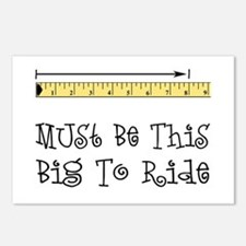 Must Be This Big To Ride Postcards (Package of 8)