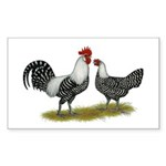 Brakel Chickens Sticker (Rectangle 10 pk)
