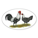 Brakel Chickens Sticker (Oval 10 pk)