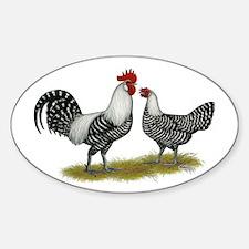 Brakel Chickens Sticker (Oval)