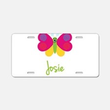 Josie The Butterfly Aluminum License Plate