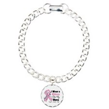 Mama Breast Cancer Charm Bracelet, One Charm