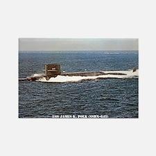 USS JAMES K. POLK Rectangle Magnet