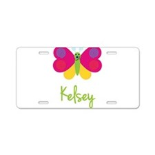 Kelsey The Butterfly Aluminum License Plate