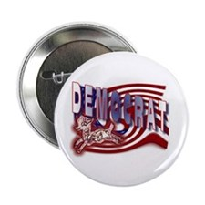 Democrat Flag Donkey t-shirt Button